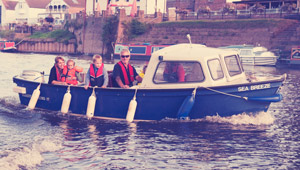 skippered boat hire on the river severn